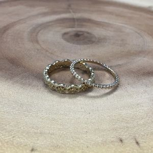 Antique Inspired Ring Duo Size 7